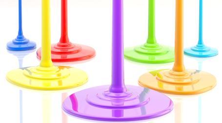rinnade färger