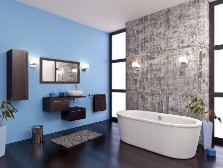 Stilrent modernt badrum