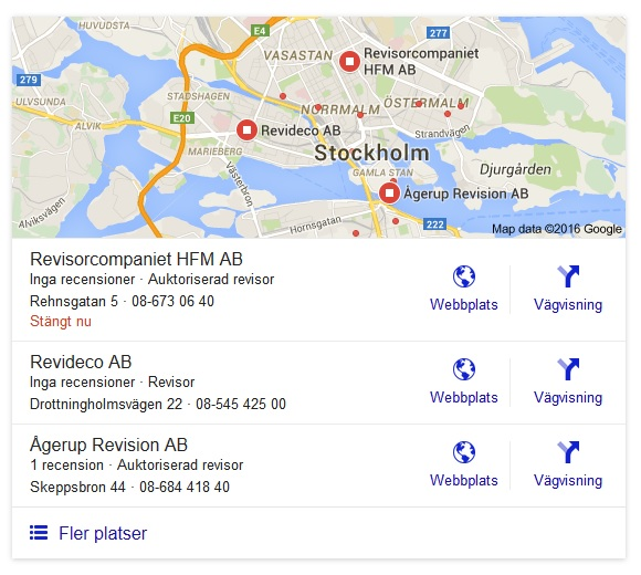 Sökning på Revisor Stockholm